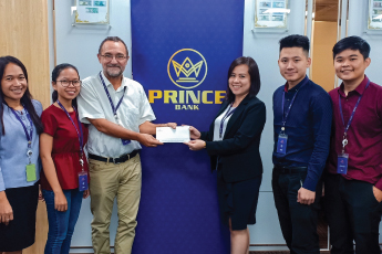 Prince Bank is supporting two Cambodian medical students who will be completing their internships at Aicenne Hospital in Paris, France.