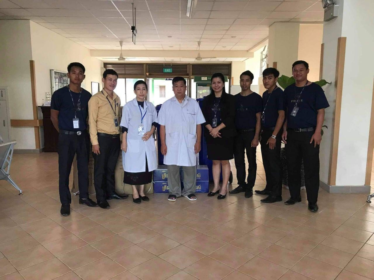 Prince Bank has donated materials to Sihanoukville Referal Hospital